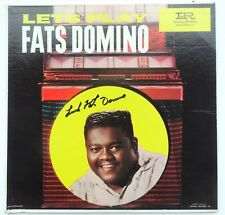 Fats Domino signed Vinyl Record Lets Play   . IN person with Proof  RARE