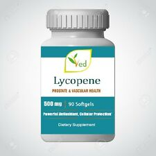 Lycopene 500 mg | 90 Softgel,Prostate & Vascular  Antioxidant, Approved in USA