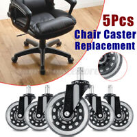 5Pcs Office Chair Caster Wheels Castor Wheel Rotatable Swivel Furniture Casters