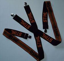 G 0000 1576 Stihl Klassiche Hosenträger ADVANCE in schwarz 130cm mit Clips