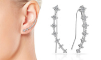 Silver Crystal Climber Earrings with Crystals from Swarovski®