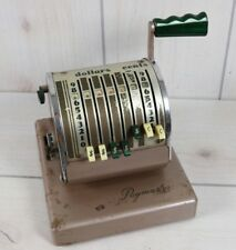Vintage The Paymaster System 8 Column Series T-550 Checkwriter Works No Key