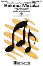 Elton John: Hakuna matata (2 parte coro) 2 parte coro, hoja de acompañamiento de piano