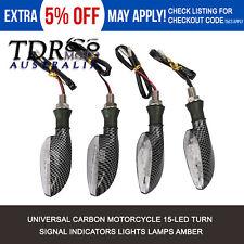 4x Universal Motorcycle 15 LED Turn Signal Indicators Amber Blinker Light 12v AU