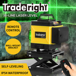 Laser Level Green Light 4D 16 Lines Auto Self Leveling 360° Rotary Cross Measure
