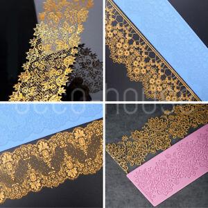 Large Flower Lace Silicone Fondant Cake Decorating Mould Mold Mat Wedding