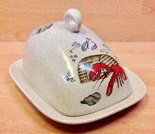 """Fieldings Crown Devon """"Oceania"""" Pattern Lidded Cheese Dish."""