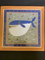 Taylor & NG Whopper The Whale Large Trivet Tile Wall Decor Made in Japan