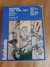 DATSUN 120Y 1000 1200 PICK UP B10 B110 B210 AUTOBOOKS WORKSHOP MANUAL 1968-1975