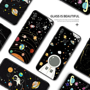 Cover For Honor 6X 7X 8 9 10 Lite Y6S Space Astronaut Galaxy Tempered Glass Case