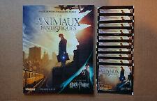 PANINI - LES ANIMAUX FANTASTIQUES - Album vide et neuf + 10 Pochettes
