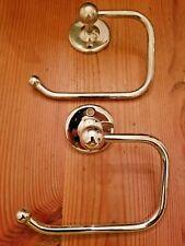 New listing Lot Of (2) Polished Chrome Bathroom Hardware-Tp Holder & Towel Ring
