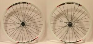 700C Bicycle Alloy Wheelset Fixed Gear Fixie 32mm Black Rim 32 Spokes Wheels
