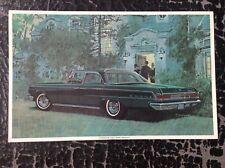 DODGE 880 imprimé vintage rare 1964 illustration Art Voiture Chrysler berline vert foncé