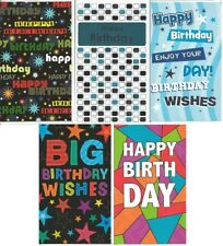 Pack of 10 General Birthday Cards (2 of each displayed design) JGB002