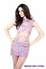 Issue New York S Dress Lavender Lace Floral Embroidered Formal Prom Cocktail