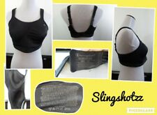 """""""38D"""" *Champion 1602 Max Support* Blk Lined Wire Free Gel Straps Sports Bra"""