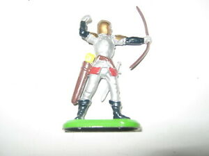 Britains Deetail silver knights on foot in 1 pose mint unboxed with bow