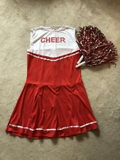 Wicked Adult Cheerleader Fancy Dress Costume With Pom Poms Large (UK 18-20)