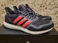 Adidas Women's Ultra Boost S&L [EG8119] ultraboost suede & leather black SZ 9.5