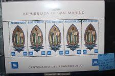 """SAN MARINO 1977 """"CENTENARIO PRIMI FR.BOLLI SAN MARINO"""" MNH** BLOCK (CAT.J)"""