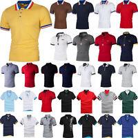 Men's Summer Shirt Short Sleeve Button Casual Slim Fit Cotton Tee Tops T-Shirts