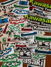 Lot Set of 10 Kawasaki Stickers Racing Motorcycle Motocross Kx Kxf Dirtbike Atv