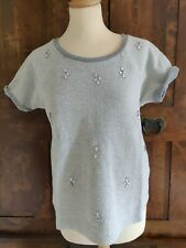 Oui Luxury Edition Embellished Cotton Top .Size 10