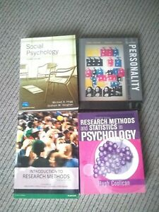Psychology Book Bundle (Research Methods/Personality/Social) Collection Only