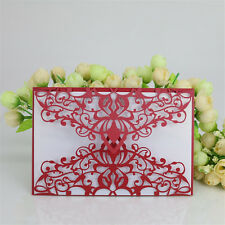 10x Laser Cut Lace Party Wedding Invitation Greeting Envelope Kit without Card