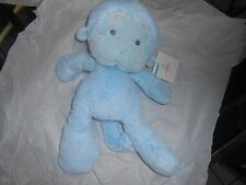 """GUND MEME 320413 blue PLUSH LOVEY GRAY  STITCHED EYES 15"""" monkey ape soft new"""