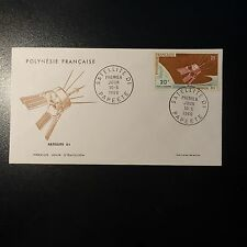 POLYNESIA FRENCH POST AERIAL PA No.19 FROM LETTER COVER 1st DAY FDC
