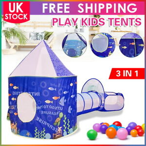 3 in 1 Portable Childrens Kids Baby Play Tent Tunnel Ball Pit Playhouse Pop Up