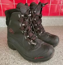 Columbia Mens Black Waterproof Boots 200g Winter Boots Red and Black Size 6