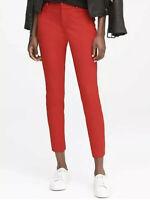 Banana Republic Red Sloan Fit Slim Ankle Dress Pants Women's Sz 4 ~ NEW
