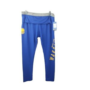 NBA Golden State Warriors Leggings Pants Juniors XL 15/17 Blue Yellow NWT