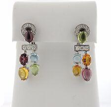 Bulgari Bvlgari Allegra 18k Gold Diamond Multi Gemstone Earrings