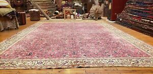 Masterpiece Antique 1920-1930s Wool Pile,Legendary Hereke Rug 8x12ft