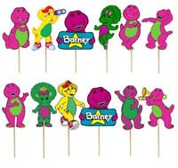 BARNEY AND FRIENDS TOPPER TOPPERS CUPCAKE BALLOON SUPPLIES DECORATIONS