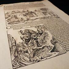 1493 FOLIO Nuremberg Chronicle WOODCUTS Hiericho SINGLE LEAF Latin ORIGINAL