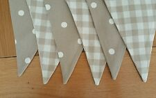 LAURA ASHLEY BUNTING  - double sided natural gingham and polka dot
