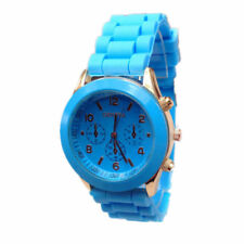 Geneva Women Ladies Soft Jelly Silicone Gel Quartz Sports Girl Kids Wrist Watch