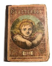 Antique Book 1883 Chatterbox Frank Leslie Book Illustrations Advertisements