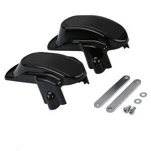 Black Rear Frame Axle Cover Fit For Harley Dyna Super Glide Custom Low Rider