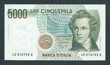 F.C. ITALIA ITALY , 5000 LIRAS 1985 , S/C- ( AUNC ) , LIGERA MARCA , P.111b .