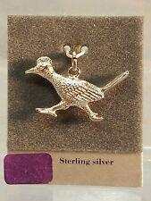 """Sterling Silver 1 1/8"""" Running Roadrunner Road Runner Bird Charm or Pendant New"""