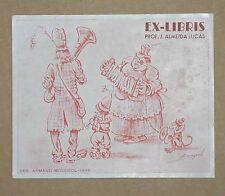 Ex-Libris ancien Prof. J. Almeida Lucas 1946 Vintage