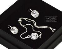925 Silver Adjustable Bracelet/Set 10mm Crystal(Clear) Crystals from Swarovski®