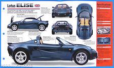 Lotus Elise UK 1996-1998 Spec Sheet Brochure Poster IMP Hot Cars Group 1 #8
