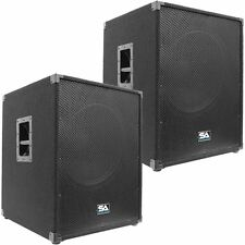 """Pair of SEISMIC AUDIO 18"""" PA POWERED SUBWOOFER Active Speakers 800 Watts Each"""